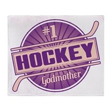 #1 Hockey Godmother Throw Blanket