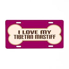 Tibetan Mastiff Aluminum License Plate