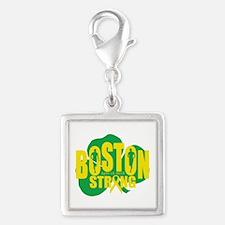 Boston April 15 Strong Silver Square Charm