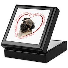 Pug Paw Prints Keepsake Box