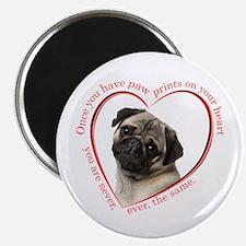 Pug Paw Prints Magnet