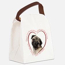 Pug Paw Prints Canvas Lunch Bag
