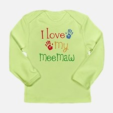 I Love My Meemaw Long Sleeve Infant T-Shirt