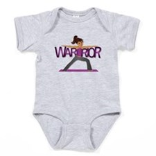 Warrior Yoga Girl Baby Bodysuit