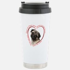 Pug Paw Prints Travel Mug