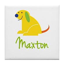 Maxton Loves Puppies Tile Coaster