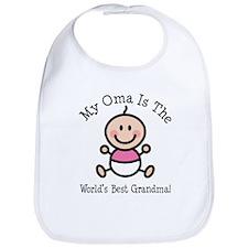 Oma Is The Worlds Best Grandma Bib