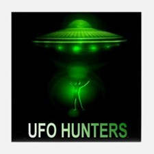 ufo hunters Tile Coaster