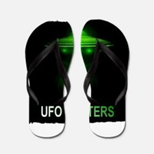 ufo hunters Flip Flops