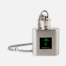 ufo hunters Flask Necklace