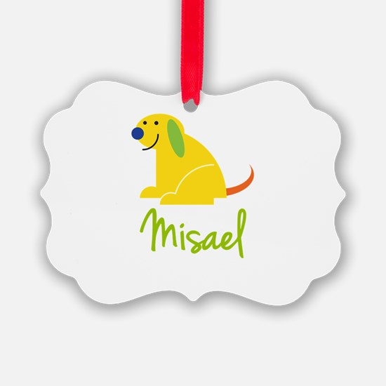 Misael Loves Puppies Ornament