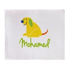Mohamed Loves Puppies Throw Blanket