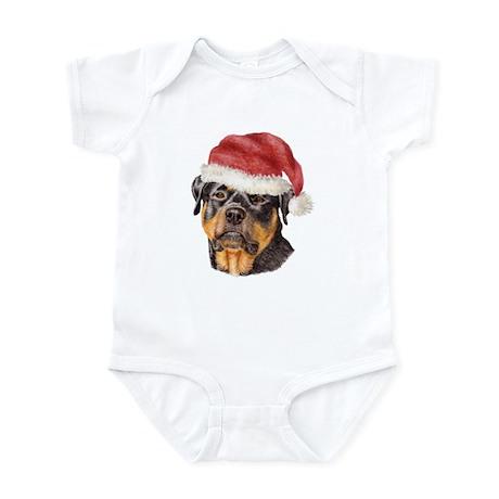 Christmas Rottweiler Infant Bodysuit