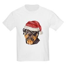 Christmas Rottweiler Kids T-Shirt