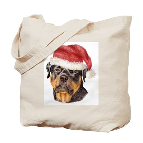 Christmas Rottweiler Tote Bag