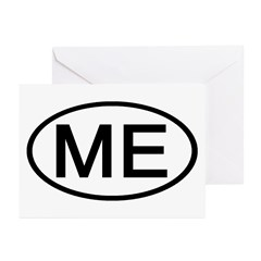 ME Oval - Maine Greeting Cards (Pk of 10)