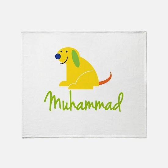 Muhammad Loves Puppies Throw Blanket