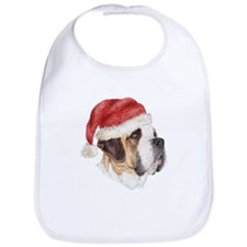 Christmas Saint Bernard Bib