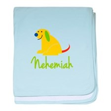 Nehemiah Loves Puppies baby blanket
