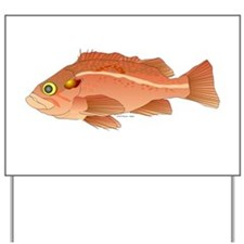 Vermillion Rockfish Scorpionfish Yard Sign