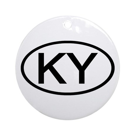 KY Oval - Kentucky Ornament (Round)