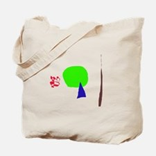 A Young Tree, a Dead Tree, and a Red Snake Tote Ba