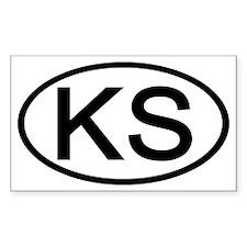 KS Oval - Kansas Rectangle Decal
