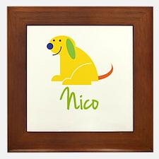 Nico Loves Puppies Framed Tile