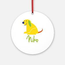 Niko Loves Puppies Ornament (Round)