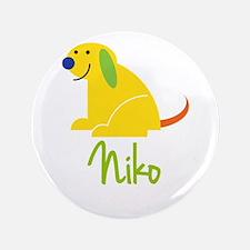 "Niko Loves Puppies 3.5"" Button"