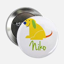 "Niko Loves Puppies 2.25"" Button"