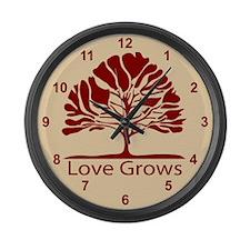 Love Grows Large Wall Clock