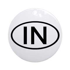 IN Oval - Indiana Ornament (Round)