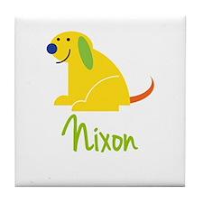 Nixon Loves Puppies Tile Coaster