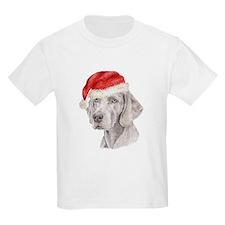 Christmas Weimaraner Kids T-Shirt