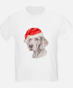 Christmas Weimaraner Kids T-Shirt