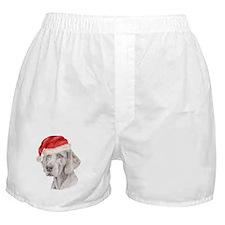 Christmas Weimaraner Boxer Shorts