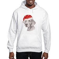 Christmas Weimaraner Hoodie