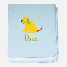 Owen Loves Puppies baby blanket