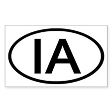 IA Oval - Iowa Rectangle Stickers