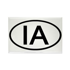 IA Oval - Iowa Rectangle Magnet