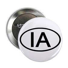 "IA Oval - Iowa 2.25"" Button (10 pack)"