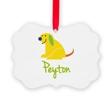 Peyton Loves Puppies Ornament