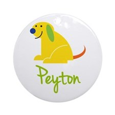 Peyton Loves Puppies Ornament (Round)