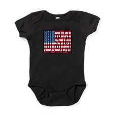 USA Flag Baby Bodysuit