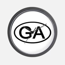 GA Oval - Georgia Wall Clock