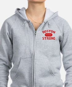 Boston Wicked Strong - Red Zip Hoodie