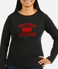 Boston Wicked Strong - Red Long Sleeve T-Shirt