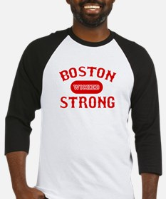Boston Wicked Strong - Red Baseball Jersey