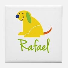 Rafael Loves Puppies Tile Coaster